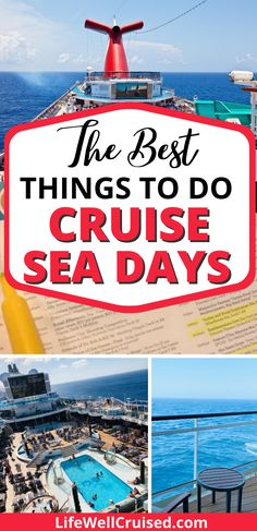Cruise sea days can be awesome! 27 things to do for everyone in the family! Perfect for new cruisers who are wondering what they can do on a cruise ship while at sea. #cruisetips #cruises #cruisetips #cruising #cruisetravel Cruise Port, Cruise Travel, Cruise Vacation, Cruise Ship Reviews, Best Cruise Ships, Packing List For Cruise, Cruise Tips, Carnival Cruise Ships, Norwegian Cruise Line
