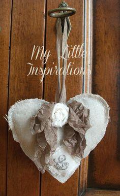 {Soft shabby heart} - Handmade Valentine by My Little Inspirations #thecreativefactory  #handmadevalentine