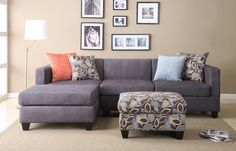Ashtyn Reversible Chaise Sectional with Ottoman