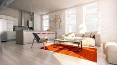Idées déco de murs en briques pour votre intérieur - Visit the website to see all pictures http://www.amenagementdesign.com/decoration/idees-deco-murs-brique-loft/