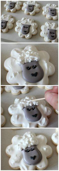 Tutorial para hacer galletas de ovejitas.