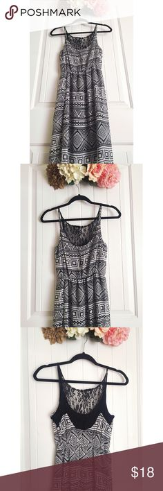 Black and white tribal maxi This maxi has a Short under slip and a long top layer. Dresses Maxi
