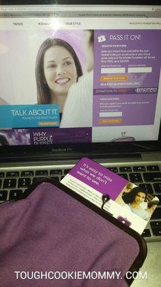 Pass The Purple Purse To Raise Money For Domestic Violence Victims! #PurplePurse #Sponsored