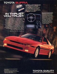 1987 Toyota Supra brochure