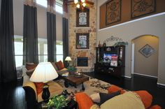 Check out the Fireplace in this Living Room!