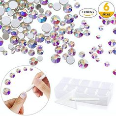 Nail Crystals AB Nail Art Rhinestones Round Beads Top Grade Mix Gems Stones for Nails Decoration Crafts 6 Size, Each ** For more information, visit image link. (This is an affiliate link) Decoration Crafts, Nail Decorations, Crystal Nails, Crystal Rhinestone, Wedding Nails For Bride, Nail Art Rhinestones, Beaded Top, Program Design, Round Beads
