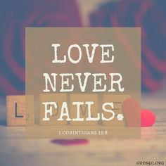 1 Corinthians 13:8 | Bible Verses #LoveOneAnother #Kindness ❤
