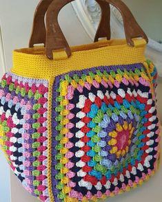 De Croche De Croche barbante De Croche com grafico De Croche de mao De Croche festa - Bolsa De Crochê Crochet Tote, Crochet Handbags, Crochet Purses, Crochet Granny, Knit Crochet, Embroidery Patterns, Crochet Patterns, Granny Square, Knitted Bags