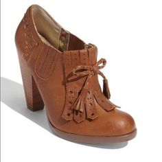 "Seychelles ""Clue"" Bootie Gorgeous cognac leather. Worn twice. A little too big on me  No noticeable wear anywhere other than the sole. Price firm. No trades or PayPal! Seychelles Shoes"