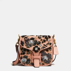 COACH: Courier Bag In Glovetanned Leather With Leather Sequins