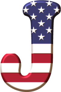 Alfabeto con la Bandera de USA Letter Symbols, Letter J, Alphabet And Numbers, Alphabet Letters, Alphabet Soup, Spaider Man, Scrapbook Letters, Holiday Fonts, Minnie Png