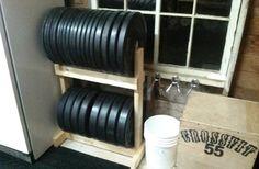 DIY Shelf for Bumper Plate Storage