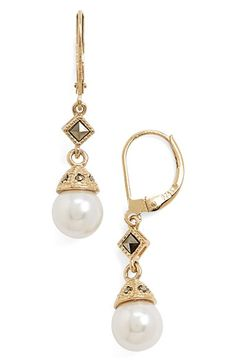 Judith Jack FauxPearl Drop Earrings available at #Nordstrom