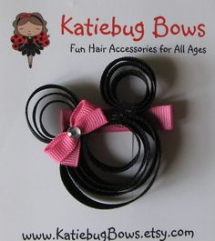 Minnie Mouse Hair Clip Minnie Mouse Lapel Pin by KatiebugBows