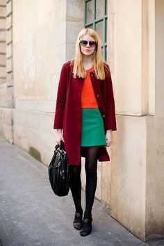 // I just bought a sweater from Zara in that exact shade of neon orange. How the heck do I wear it...