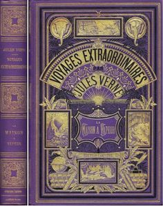 ❥ Jules Verne original book covers - beautiful!