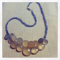 Necklace white amazzonite