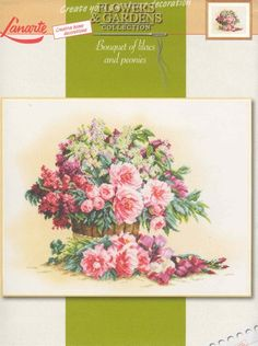 ru / Фото - Bouqet of Lilacs and Peonies - mayaak Cross Stitch Patterns, Vintage World Maps, Floral Wreath, Bouquet, Home And Garden, Wreaths, Creative, Flowers, Decor