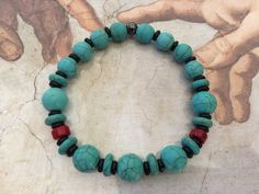Natural Stones, Turquoise Bracelet, Beaded Necklace, Bracelets, Jewelry, Beaded Collar, Jewlery, Pearl Necklace, Jewerly