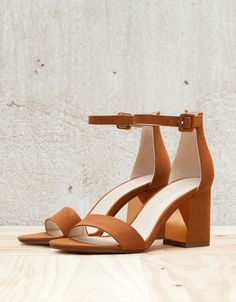 Strappy heeled sandals with ankle strap. Discover this and many more items in Bershka with new products every week