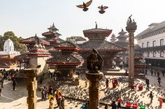 Towers dominate at the Kathmandu Durbar Square