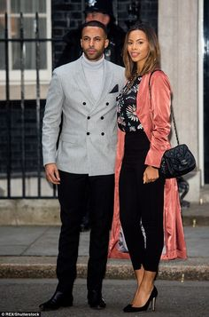 Loved-up: Rochelle Humes and Marvin Humes looked beyond smitten at they attended the Sports Relief reception, hosted by Prime Minister David Cameron at Downing Street, on Tuesday evening