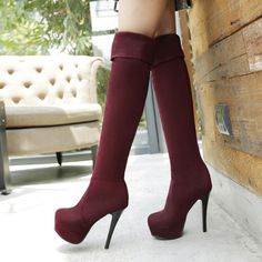 awesome Shoespie Cheap Stiletto Heel Knee High Boots