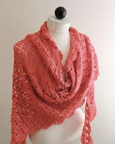 Flamingo Shawl Crochet Pattern