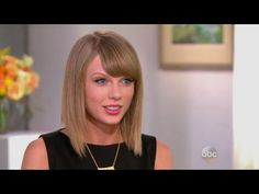 Barbara Walters with Taylor Swift 2014... Love this so much. Shes so poised and mature and I love how she pointed out how old the joke is of  her writing songs about whoever she's with. I love her soooo much