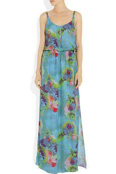 A.L.C.  Luisa floral-print silk-chiffon maxi dress