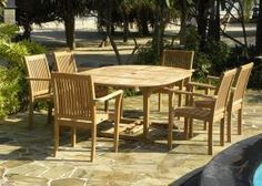Our best selling 6 seater set is the beautiful and practical double extending Aruba teak garden set.  The table is a 120cm round table which extends to a large 180cm oval table which easily seats 8 people.