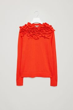 COS image 5 of Abstract applique jumper in Signal Red. 650kr. Str. M