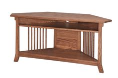 The Amish Royal Corner TV Entertainment Table is a great space saver.