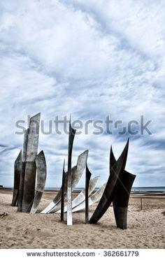 Omaha Beach was one of the landing area of the Normandy Invasion of World War II