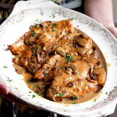 Chicken Marsala - no black pepper