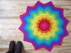 Rainbow Star Afghan ~ free pattern ᛡ