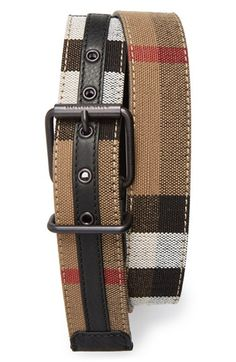 Burberry Canvas Check Belt