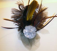 Feathered hat, DIY