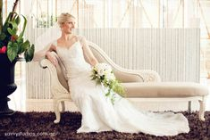 wedding dress chaise lounge bridal