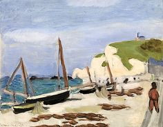 Beach at Etretat, 1920 (oil on canvas), Henri Matisse