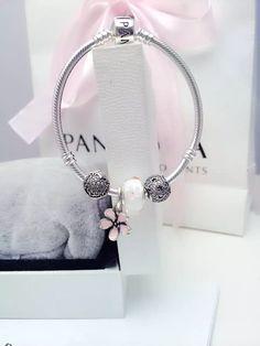 50% OFF!!! $139 Pandora Charm Bracelet Pink. Hot Sale!!! SKU: CB02057 - PANDORA Bracelet Ideas