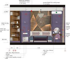 Interior Architecture Drawing, Drawing Interior, Interior Design Sketches, Interior Design Studio, Luxury Homes Interior, Interior Exterior, Interior Design Presentation, Hotel Room Design, Master Bedroom Interior
