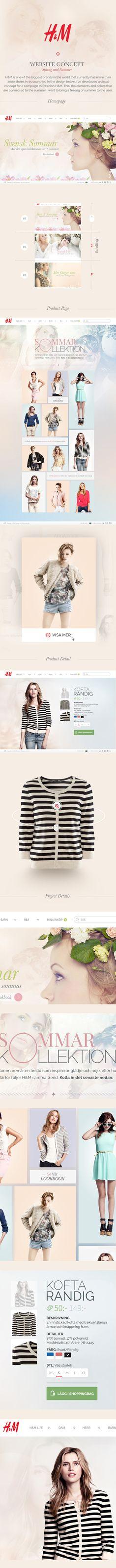 H Website by Hugo Albönete, via Behance #ecommerce #webdesign