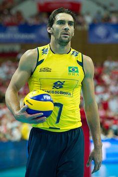 Giba of Brazil Volleyball Team Fot. Mariusz Pałczyński / http://www.facebook.com/MariuszPalczynskiPhotography