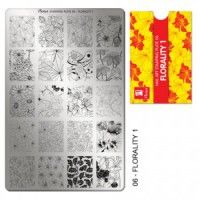 "Moyra Stampingplatte - Florality ""1"" 06"