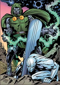 Doctor Doom and Silver Surfer by Jack Kirby