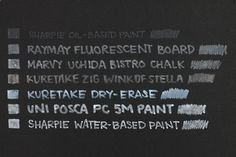 MARKERS by opacity from translucent to opaque. Guide To Choosing White Gel Ink Pens And Markers - JetPens.com.