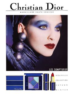 SUSIE BICK FOR CHRISTIAN DIOR COSMETICS ADVERTISEMENT MAKE-UP /PHOTOGRAPHY TYEN 1988