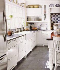Kitchen Floor Tile By Melanie. Ku0026Bu0027s Kitchen Floor, Mud Room U0026 Eating Area