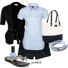 """""""Sky Blue Gingham"""" by jewhite76 on Polyvore"""